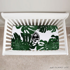 Guam Lemai Leaves Baby Crib Sheet