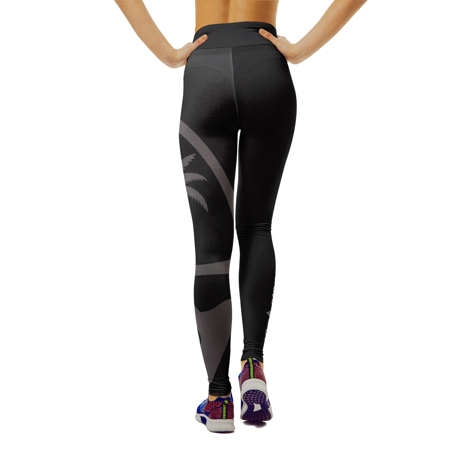 Island Girl Guam Seal Black Yoga Leggings