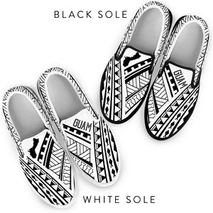 Guam Tribal White Design Slip On Shoe