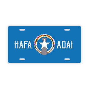 Hafa Adai CNMI Flag Saipan Tinian Rota Car License Plate