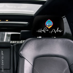 Guam Hafa Adai Script Custom Car Headrest Cover (Set of 2) - Ready to Ship