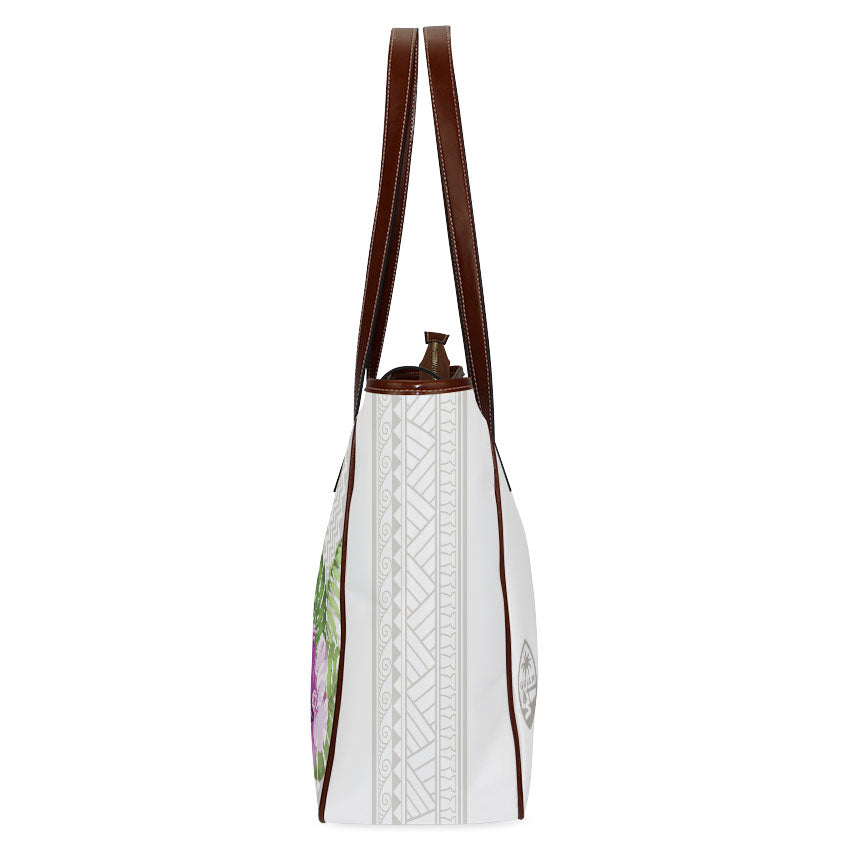 Guam Seal Purple Hibiscus Tribal Classic Tote Purse