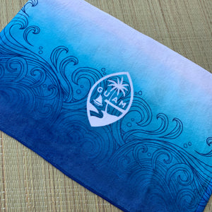 Guam Seal Ombre Waves Hand Towel