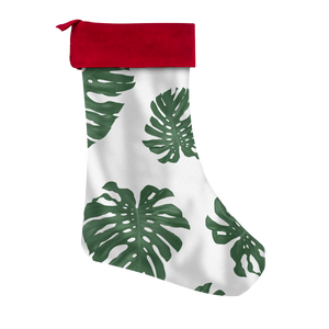 White Lemai Leaves Guam CNMI Christmas Stocking