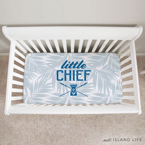 Little Chief Guam Light Blue Baby Crib Sheet