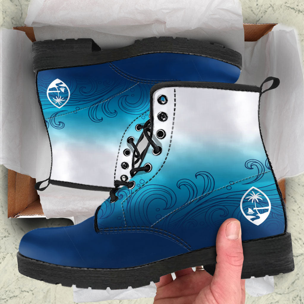 Guam Seal Ombre Waves Leather Boots