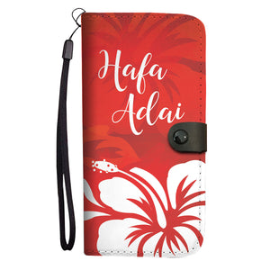 Hafa Adai Guam Chamorro Tropical Island Red Phone Wallet Case