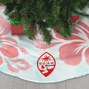 Guam Tropical Hibiscus Christmas Tree Skirt