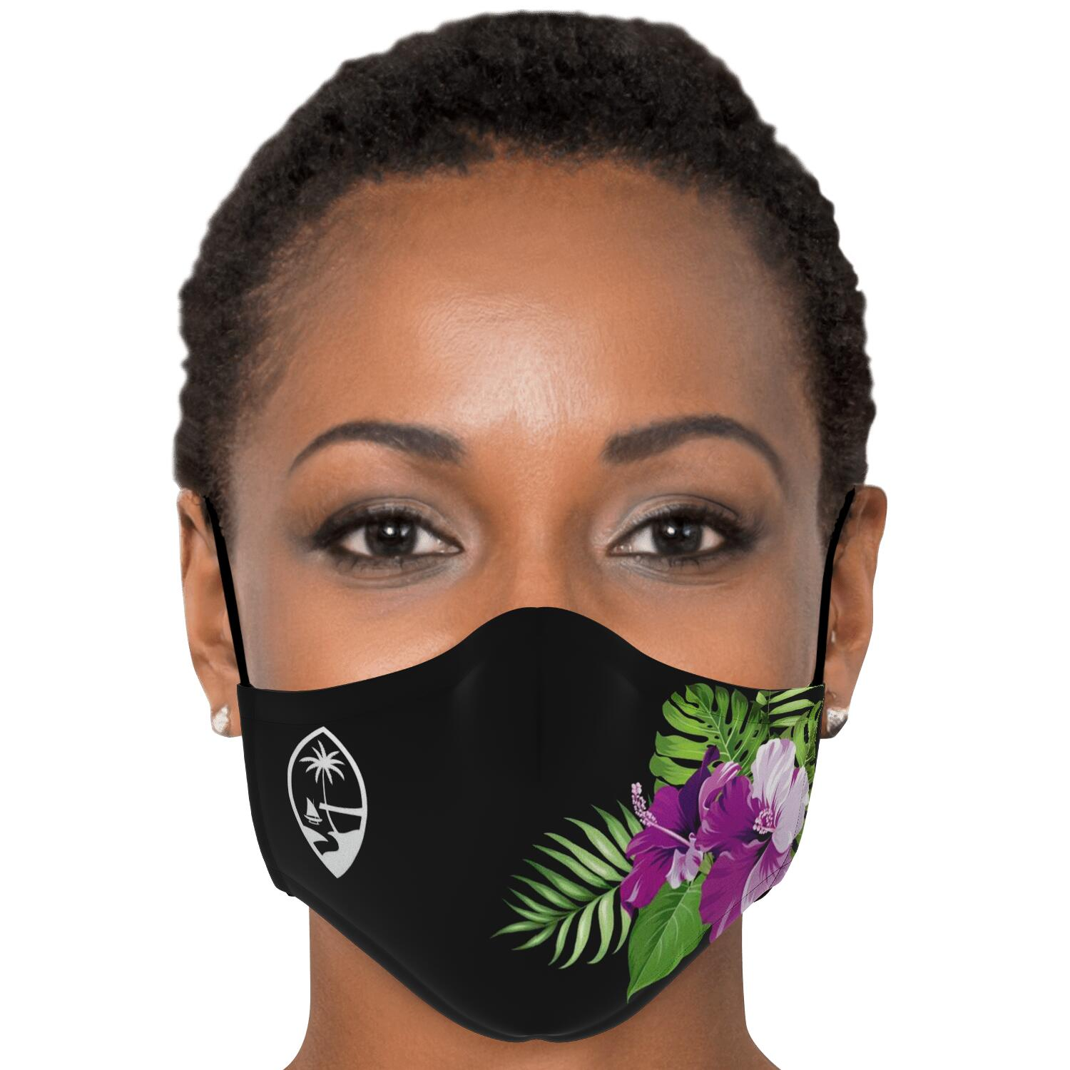 Guam Purple Hibiscus Face Mask for Youth and Adults
