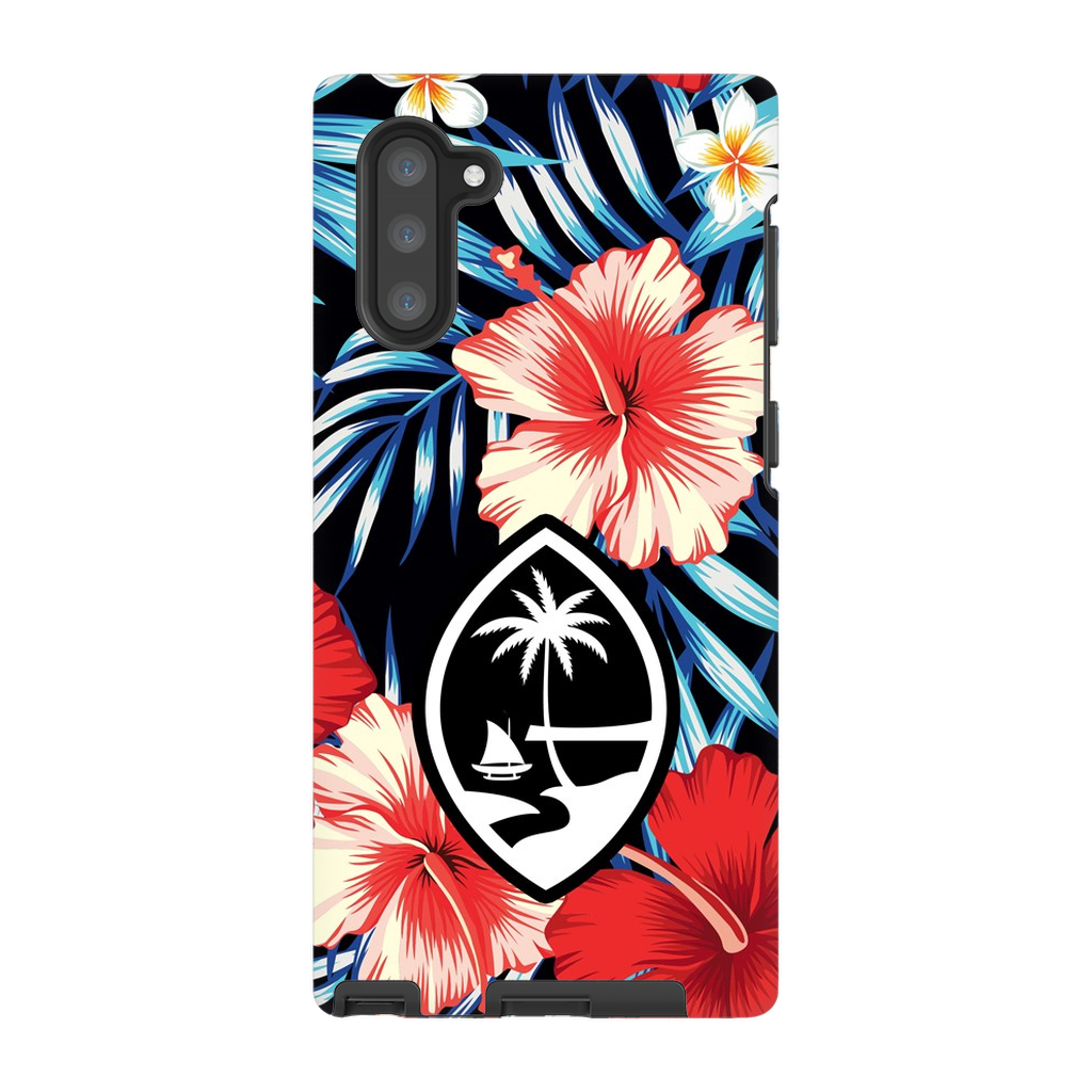 Tropical Floral Guam Premium Glossy Tough Phone Case