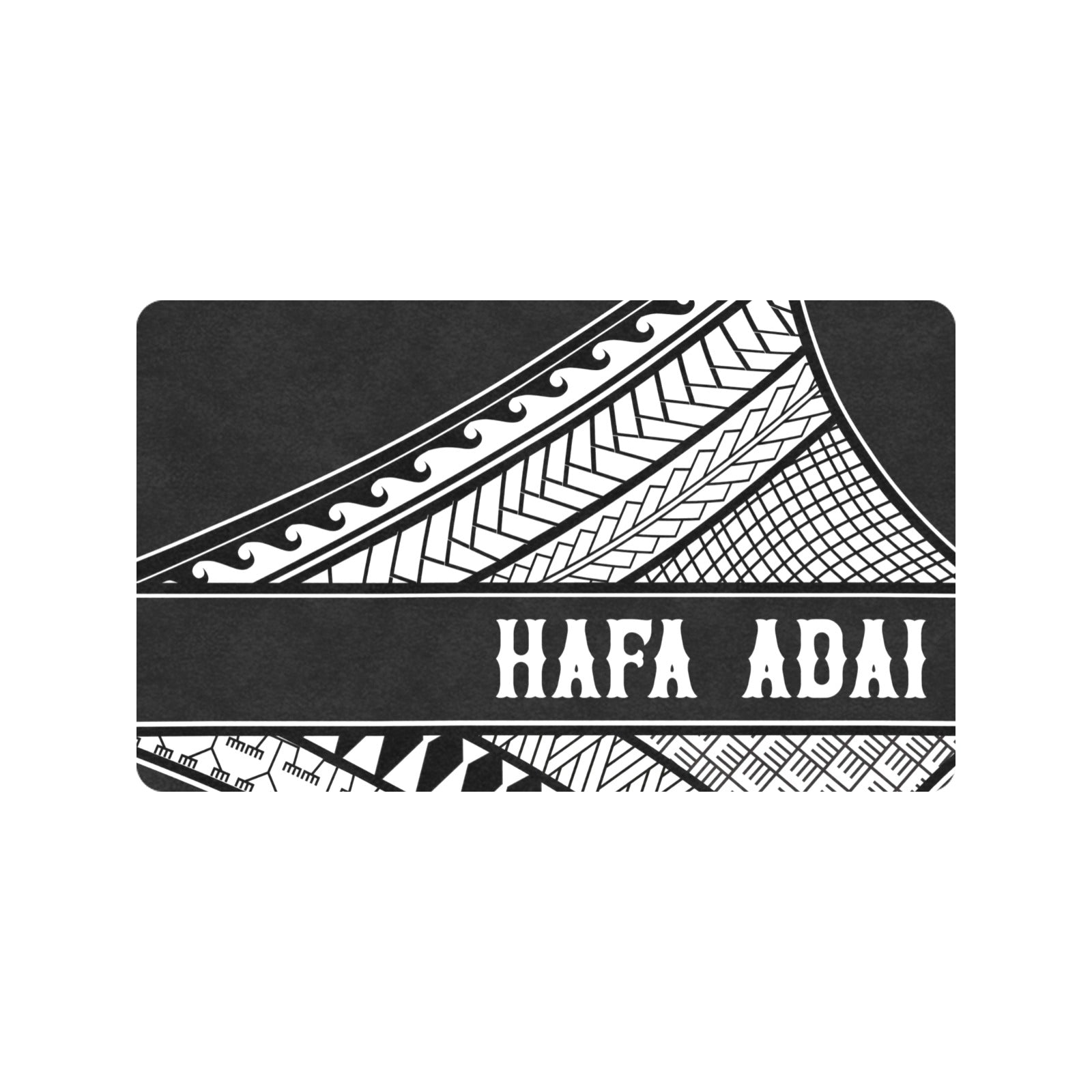 "Hafa Adai Tribal Chamorro CNMI Guam Large Doormat 30""x18"""
