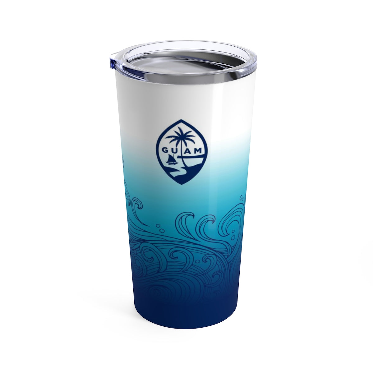 Guam Seal Ombre Waves 20oz Tumbler