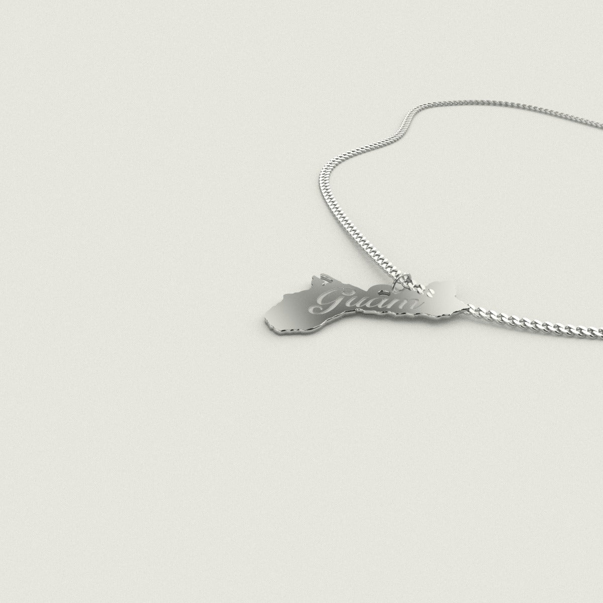 Island of Guam Sterling Silver Necklace