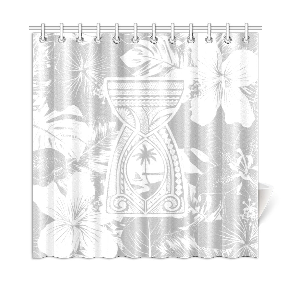 "Latte Stone Tribal Gray Shower Curtain 72""x72"""
