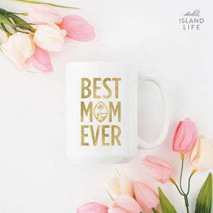 Best Mom Ever Guam Seal Gold Foil Deluxe Mug