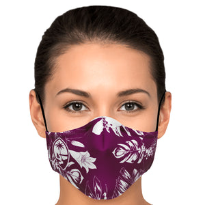 Guam Hibiscus Purple Face Mask for Youth and Adults