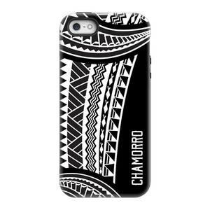 Chamorro Guam Saipan CNMI Island Tribal White Premium Glossy Tough Phone Case