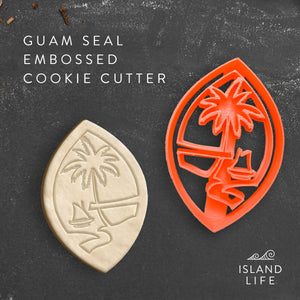 Guam Seal Embossed Cookie Cutter - Ready to Ship