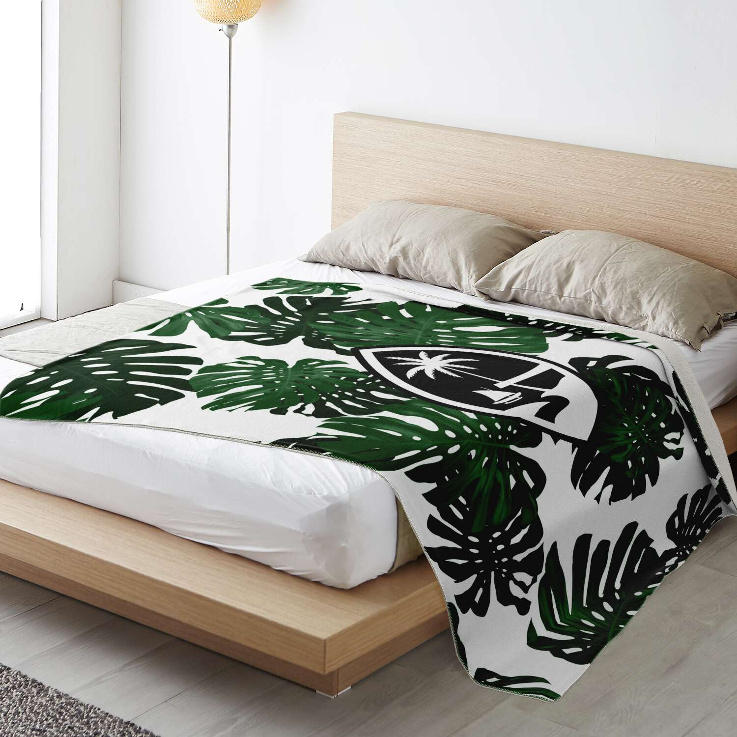 Guam Lemai Leaves Microfleece Blanket