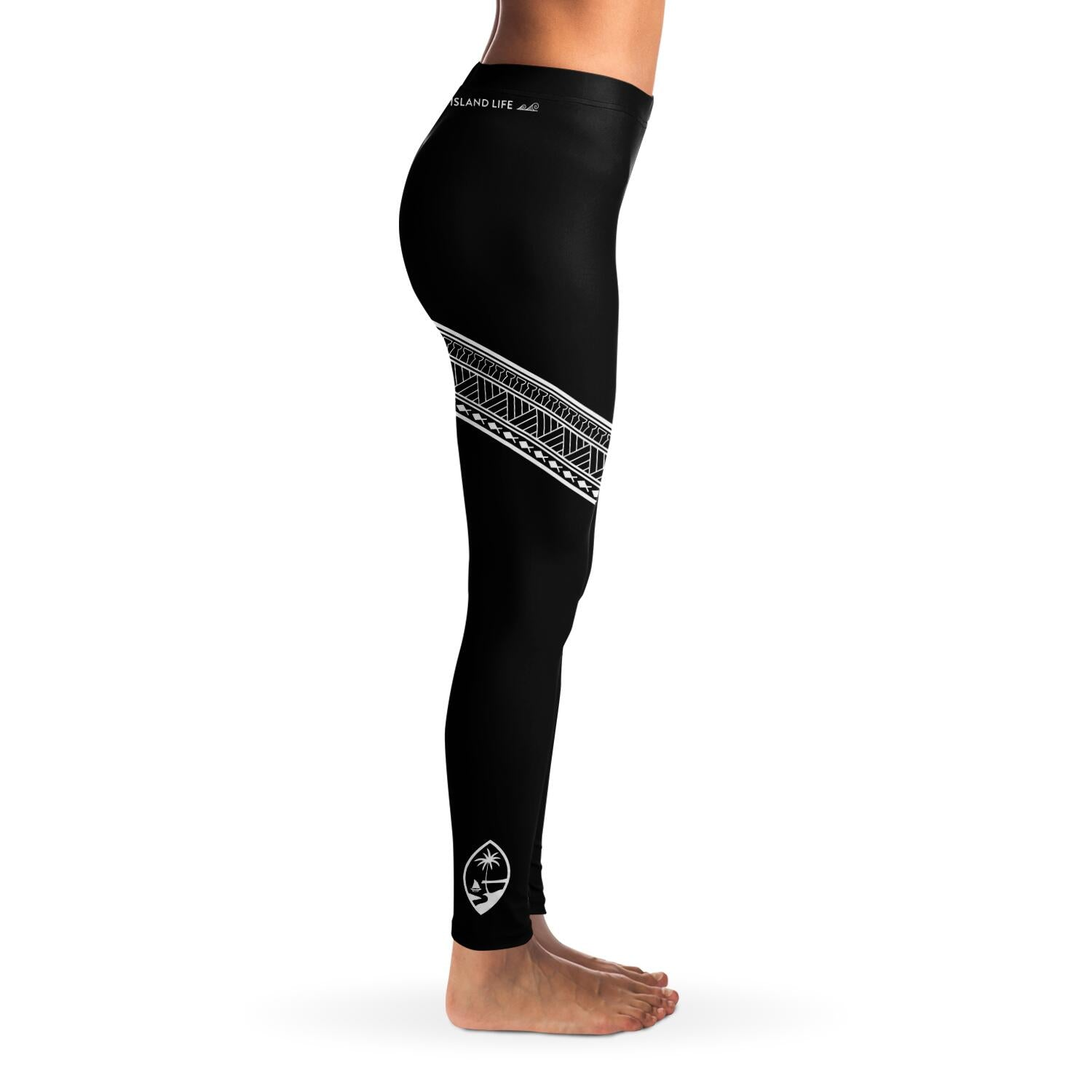 Guam Seal Diagonal Tribal Premium Leggings
