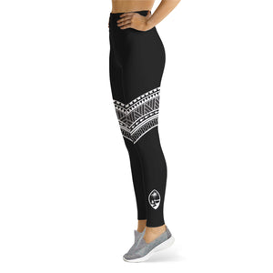 Guam Seal Diagonal Tribal Leggings
