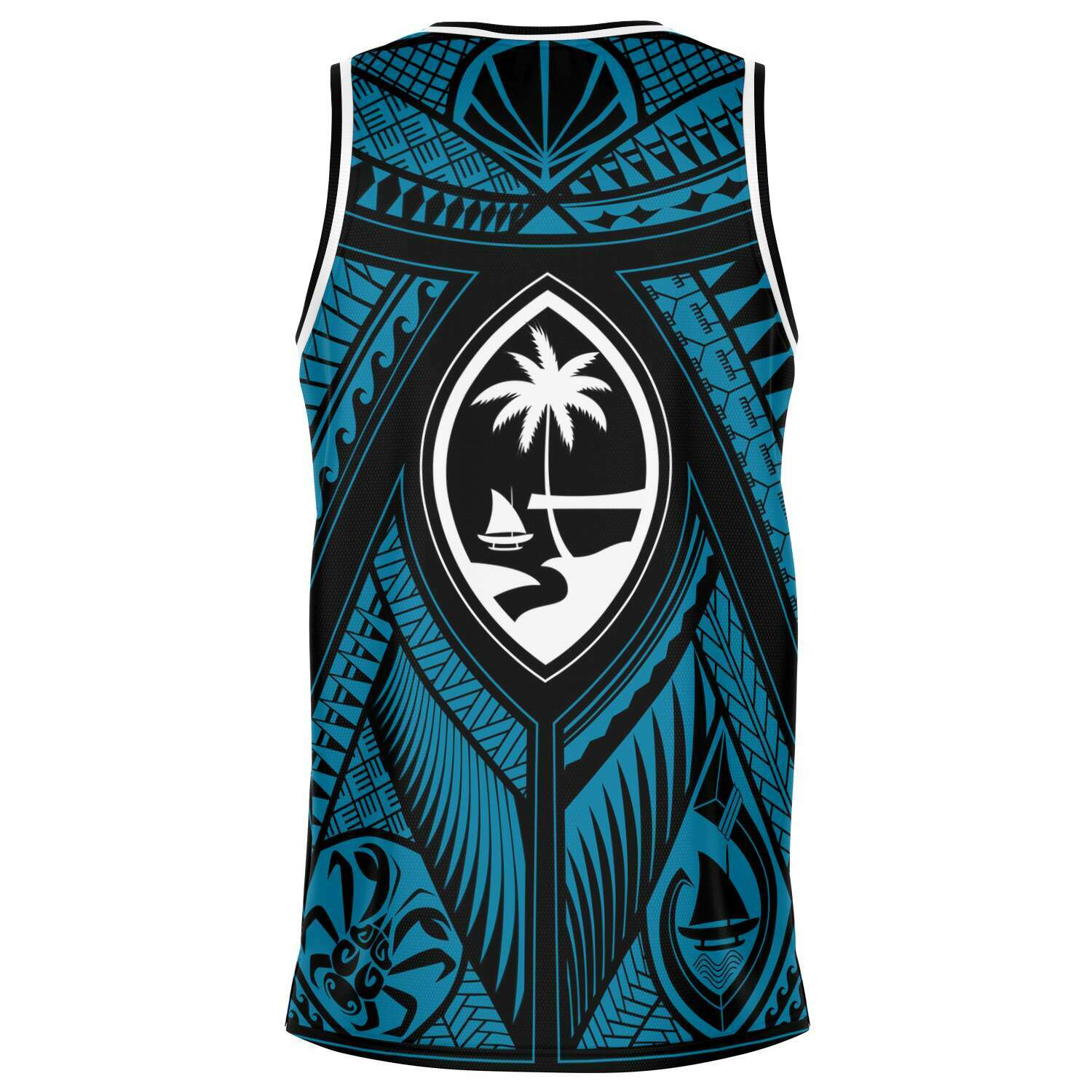 Guahan Tribal Blue Basketball Jersey