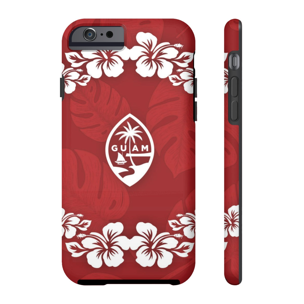 Guam Seal Red Hibiscus Tough Phone Case
