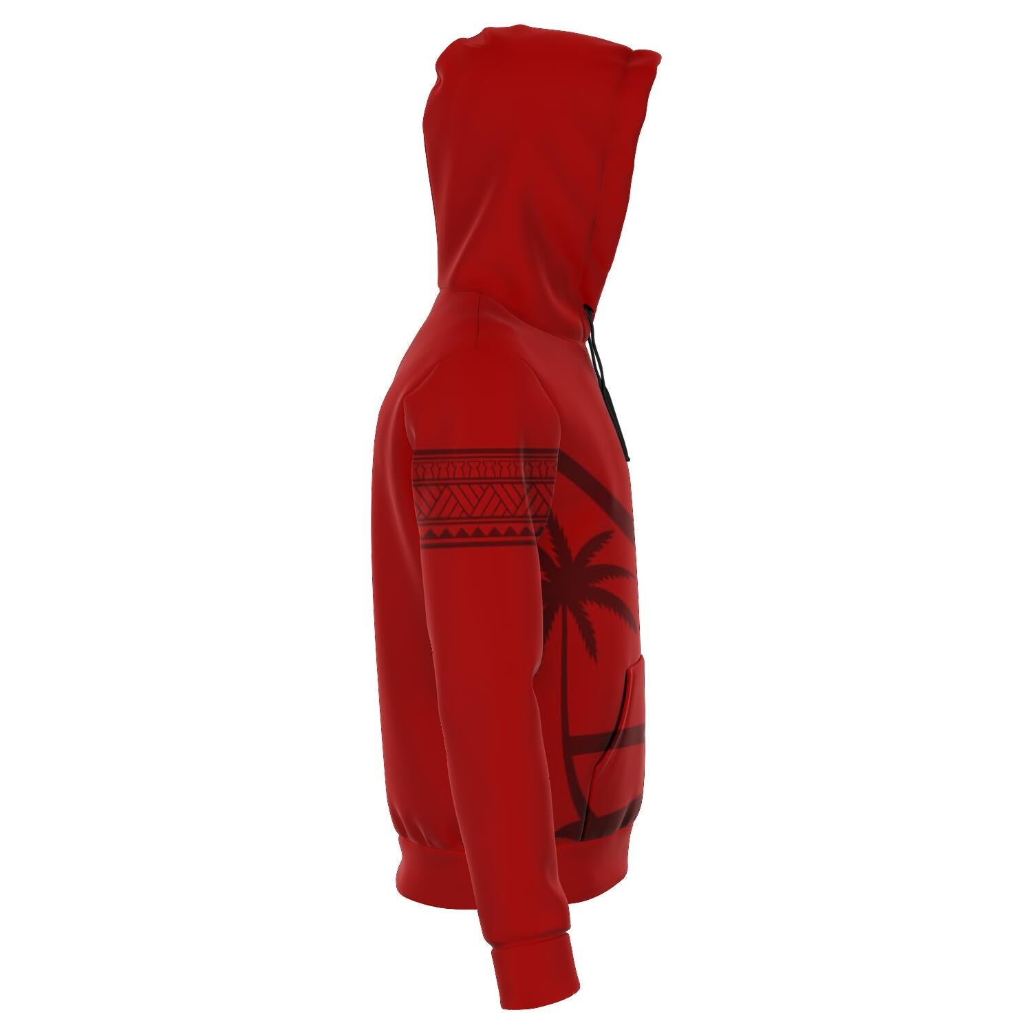 Guam Seal Tribal Red Unisex Pullover Hoodie