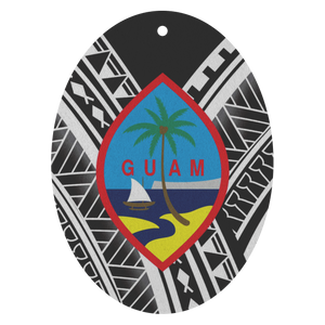 Guam Seal Tribal Custom Air Freshener 3pk