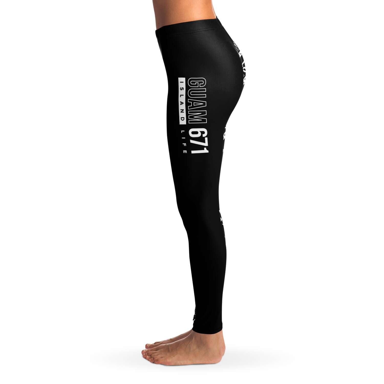 Guam 671 Black Premium Leggings