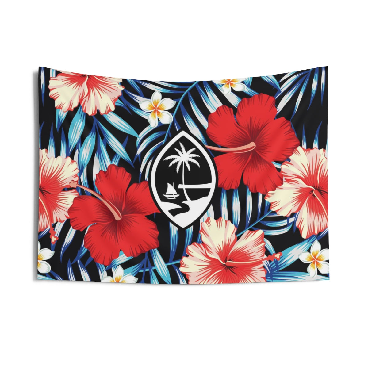 Tropical Floral Guam Indoor Wall Tapestry