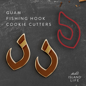 Traditional Fishing Hook Guam Saipan Tinian Rota Cookie Cutter