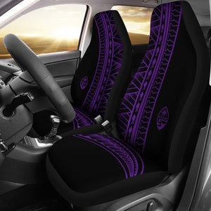 Guam Seal Purple Tribal Car Seat Covers (Set of 2)