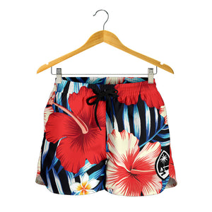 Shorts Guam Tropical Floral Womens Shorts Medium - Ready to Ship