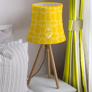 Guam Geometric Latte Stone Yellow Lamp Shade