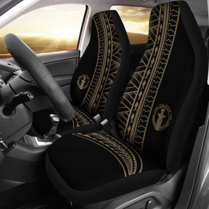 CNMI Saipan Tinian Rota Tan Tribal Car Seat Covers (Set of 2)