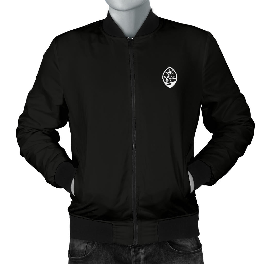 New Guam Map Men's Black Bomber Jacket