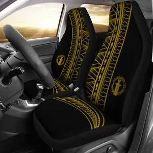 CNMI Saipan Tinian Rota Yellow Tribal Car Seat Covers (Set of 2)