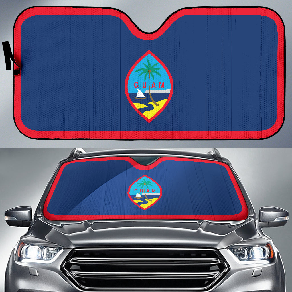 Guam Flag Auto Car Sun Shade