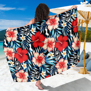Guam Seal Tropical Flowers Sarong