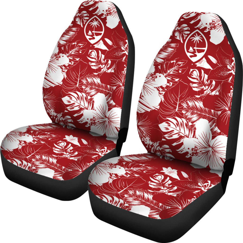 Guam Hibiscus Red Car Seat Covers (Set of 2)