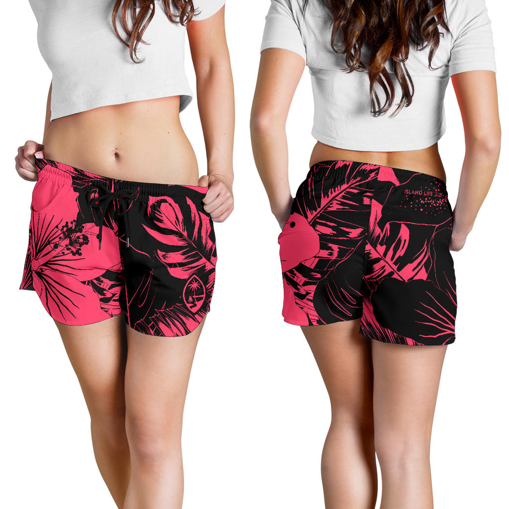 Guam Pink Floral Womens Shorts