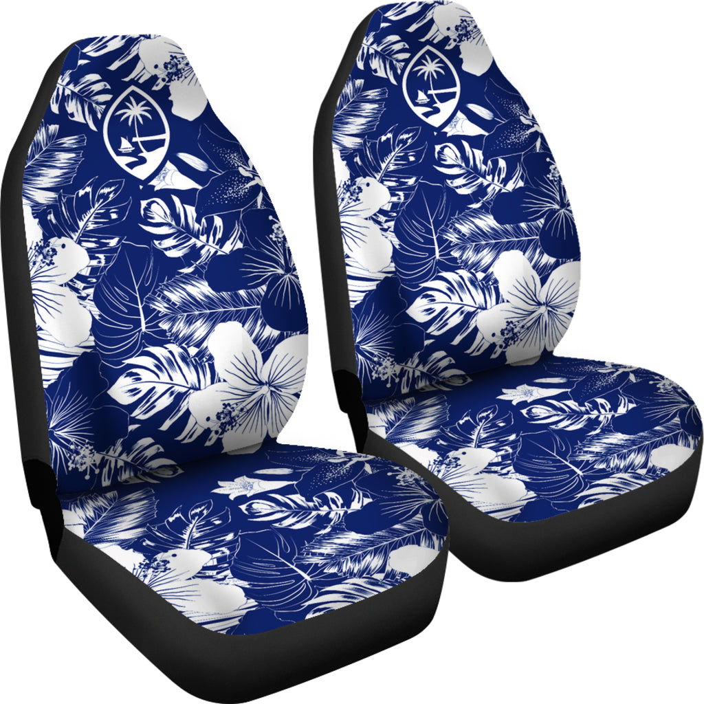 Guam Hibiscus Blue Car Seat Covers (Set of 2)