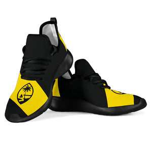 GU Guam Seal Yellow Band Black Mesh Sneaker