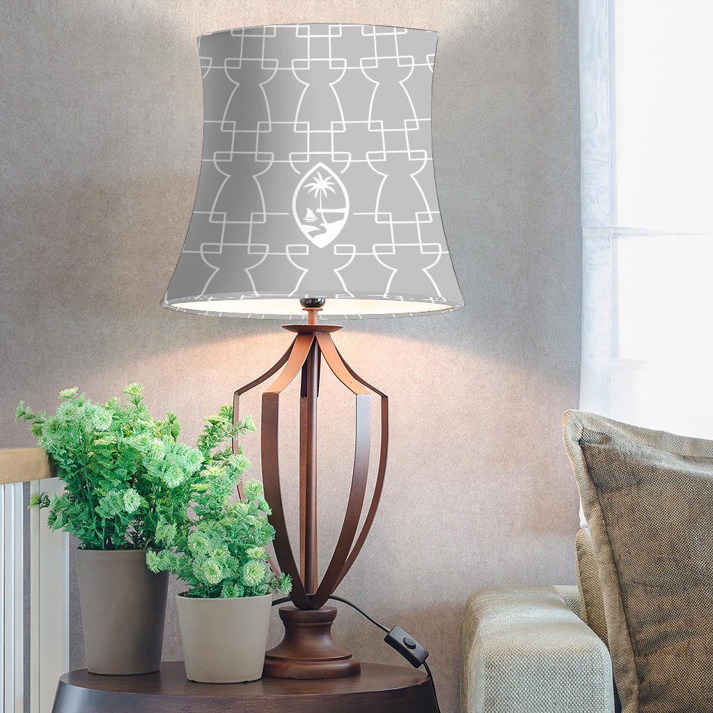 Guam Geometric Latte Stone Gray Lamp Shade