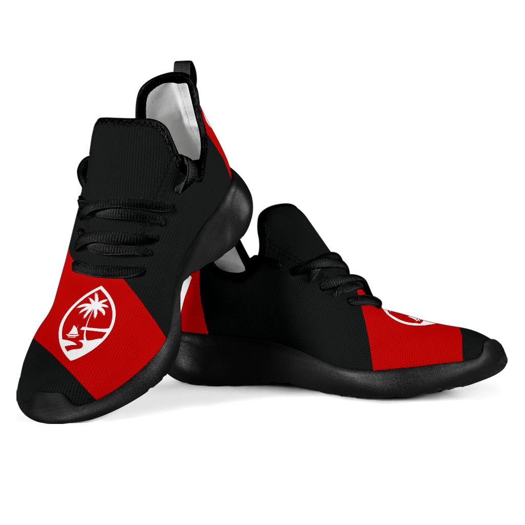 GU Guam Seal Red Band Black Mesh Sneaker