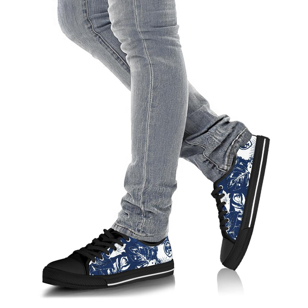 Guam Blue Floral Low Top Shoe