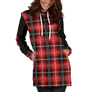 Hibiscus Island Plaid Guam CNMI Hoodie Dress with Express Shipping