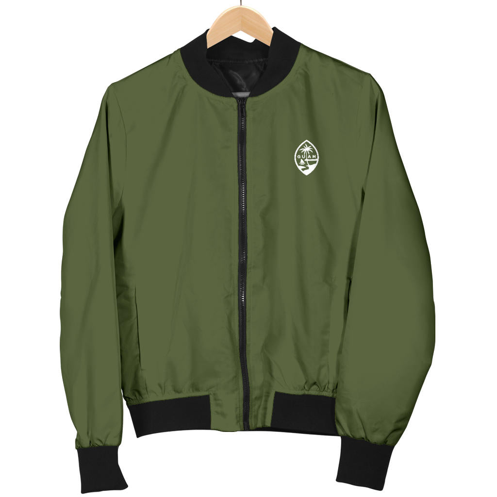 New Guam Map Men's Green Bomber Jacket