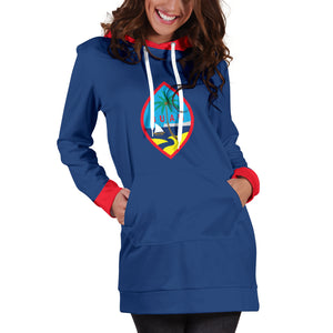 Guam Flag Hoodie Dress
